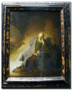 Rembrandt's portrayal of Jeremiah. After you read this Haftarah, you'll look like this, too.